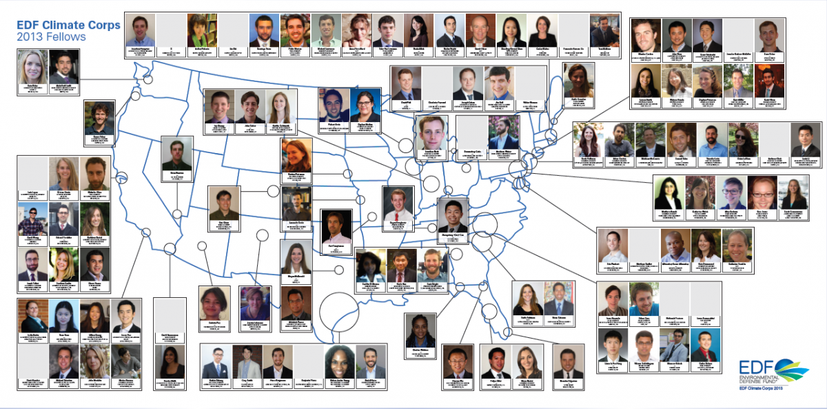 2013 EDF Climate Corps Fellow Map