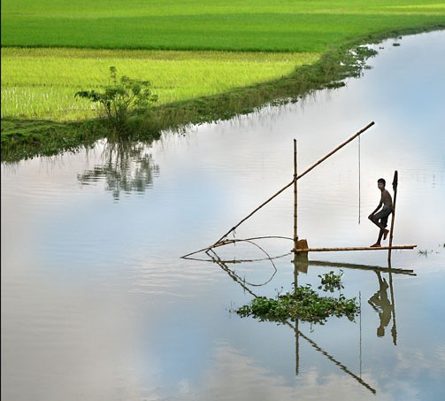Sea level rise could inundate 17 percent of Bangladesh.