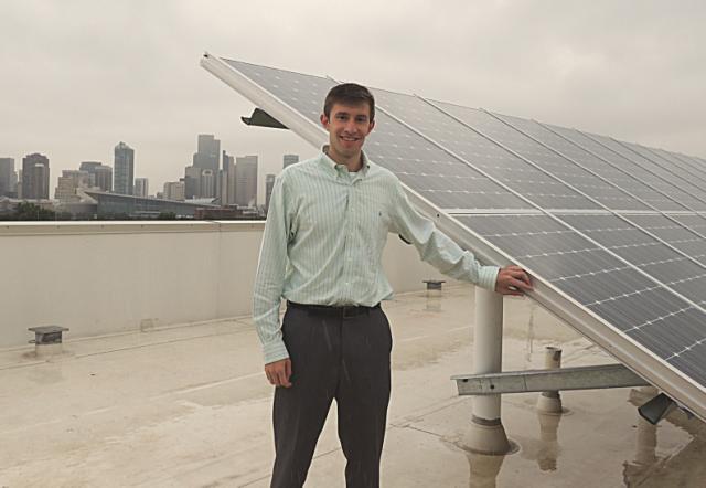 Colin Krenitsky, 2014 EDF Climate Corps fellow for Denver Housing Authority