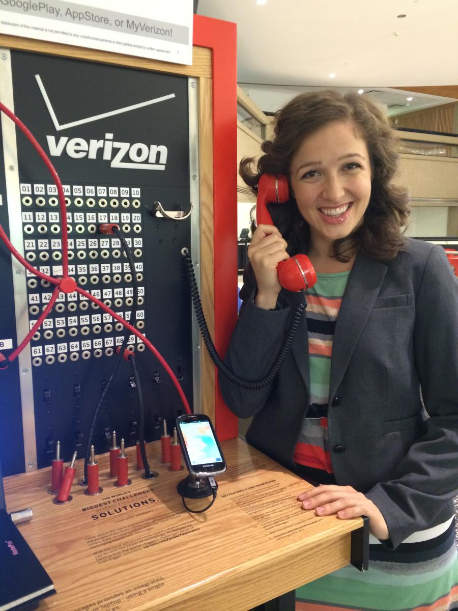 Susannah Harris pictured here on site at Verizon headquarters in Basking Ridge, NJ