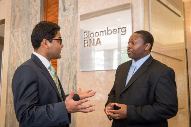 An EDF Climate Corps fellow on site at Bloomberg