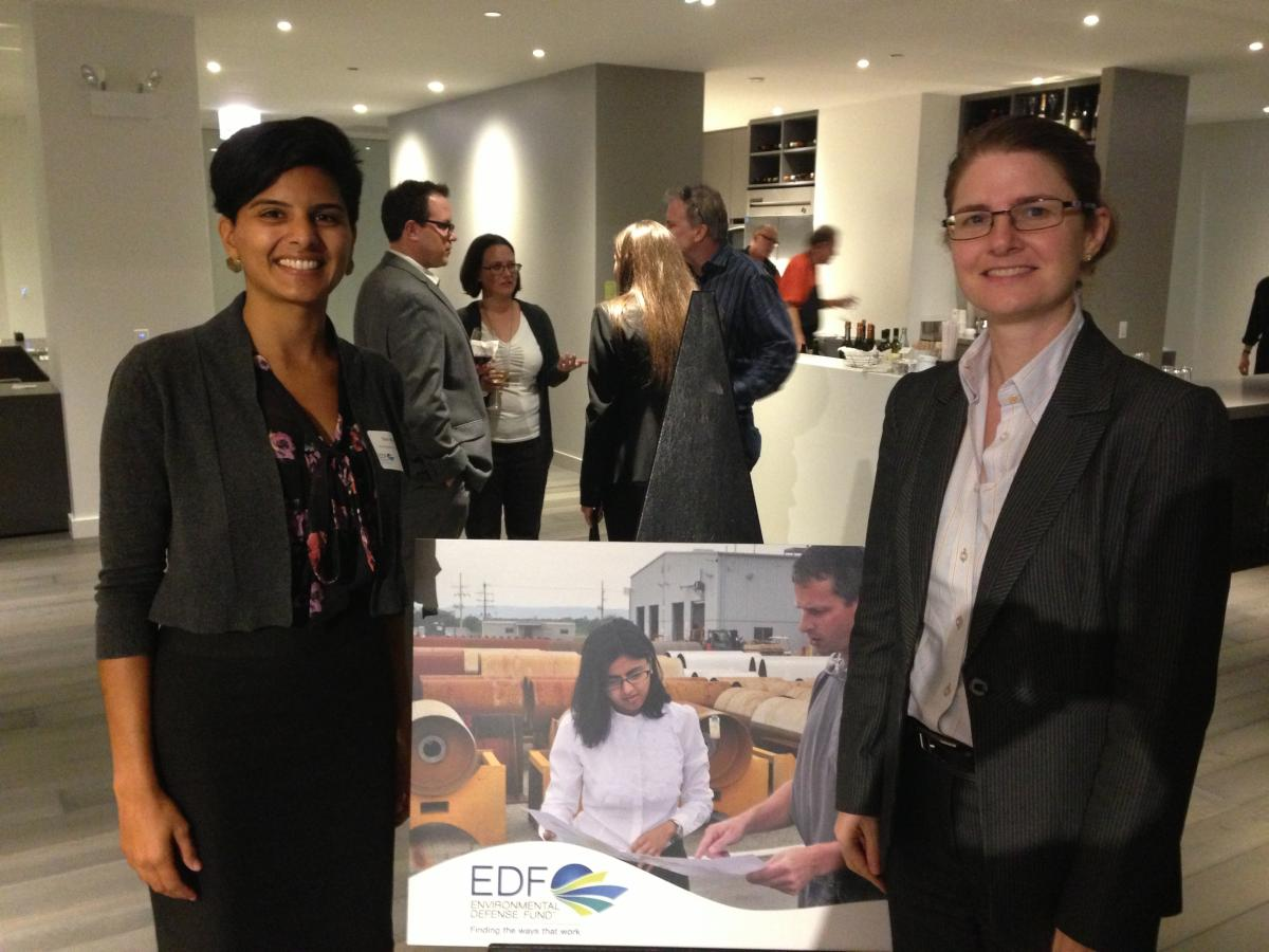 Sitar Mody and Karen Weigert at the Building Energy Initiative launch