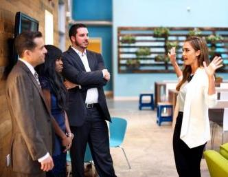 EDF Climate Corps fellows and Jessica Alba at the Honest Company