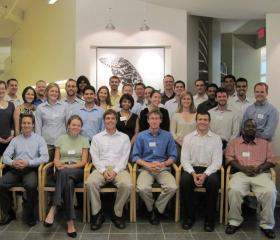 Half of the 2010 class of EDF Climate Corps fellows during the training event in New York.